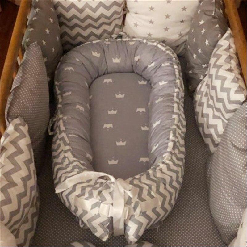 80*50cm Portabel Baby Bed Nest Newborn Nursing Bionic Bed Crib BB Sleeping Cot Artifact Bed Travel Bed Bumper Nest