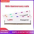 Asgard W1 серия RGB RAM Memoria 8GB 2X8GB 16GB DDR4 3200MHz 1 35 V RAM для настольного DIMM двухканальный
