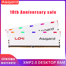 Asgard W1 시리즈 RGB RAM Memoria 데스크탑 DIMM 듀얼 채널 용 8GB 2X8GB 16GB DDR4 3200MHz 1.35V RAM