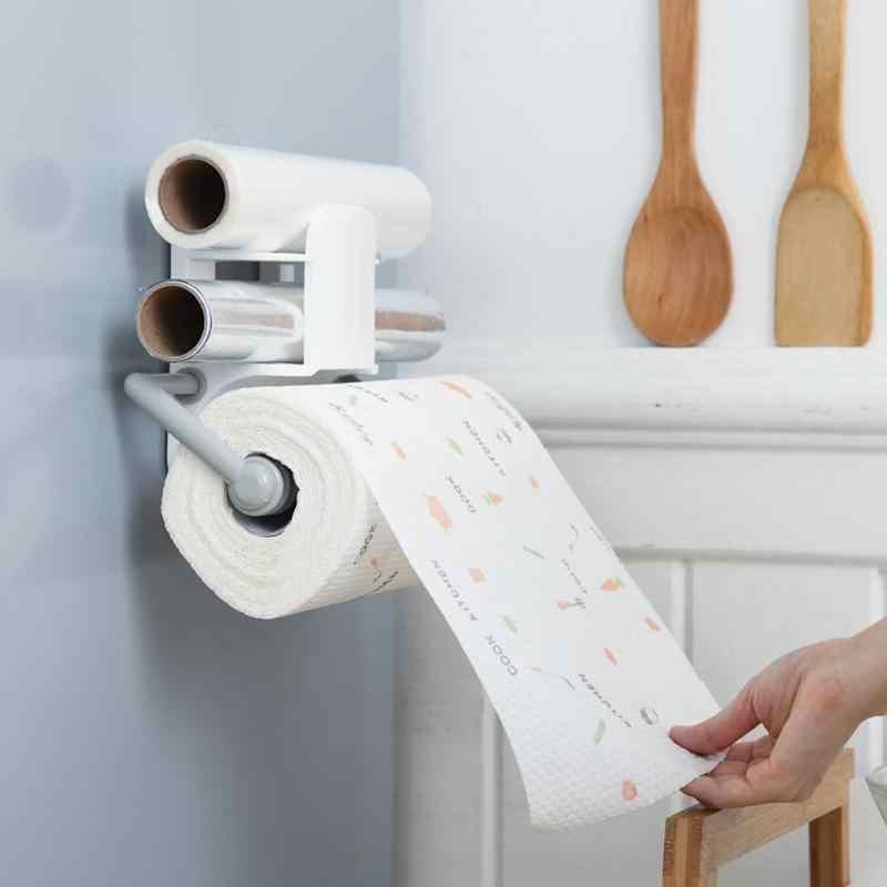 Çok fonksiyonlu mutfak rulo kağıt havlu tutucu doku havlu depolama askı raf ev depolama ve organizasyon