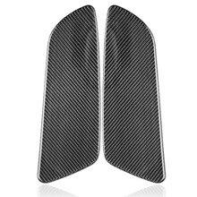 Painel traseiro da porta do carro de fibra de carbono capa adesivo guarnição para ford mustang 2015-2019 capa adesivo interior guarnição decalque