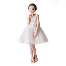 Kostiumy dla dzieci Princess kostiumy dla przedszkolaków kostiumy dla dziewczynek spódnica kostiumy dla dziewczynek Flower Girl Pageant tanie tanio U-SWEAR O-neck Kolan Bez rękawów -Line Tulle Zbiornik Koronki Flower girl dresses