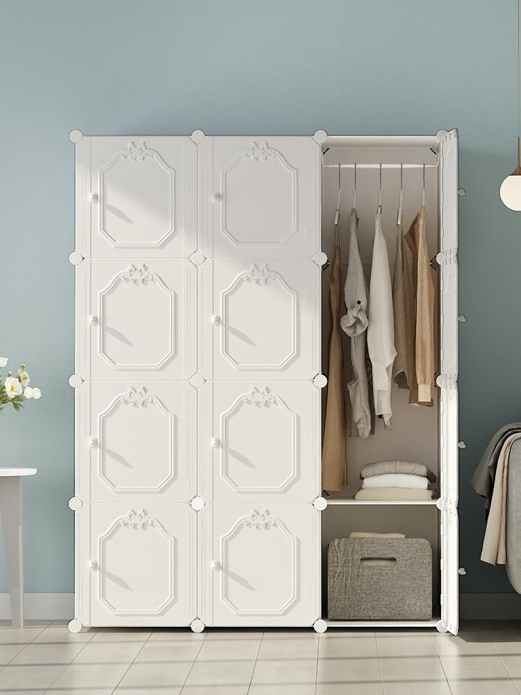 Simplicity Wardrobe Nordic Bedroom Furniture Armarios Dormitorio Kleiderschrank Storage Cabinet Armario Portatil...