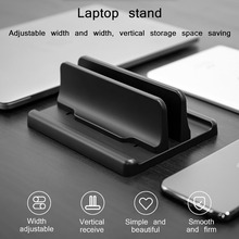 Base Mount Adjustable Notebook Erected Double Space Holder Vertical Desk Laptop Stand