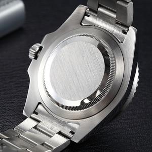 Image 5 - بارنيس 40 مللي متر الميكانيكية الرجال الساعات GMT الياقوت الكريستال رجل ساعة رجالي التلقائي relogio masculino دور العلامة التجارية الفاخرة 2019 هدية
