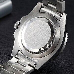 Image 5 - Parnis 40mm Mechanische Mannen Horloges GMT Sapphire Crystal Man heren Horloge Automatische relogio masculino Rol Luxe Merk 2019 gift