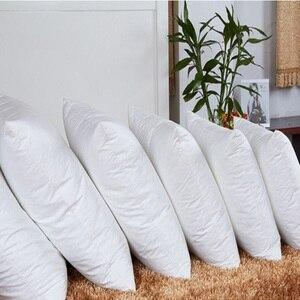 Image 1 - 화이트 베개 필링 스퀘어 넥 베개 코어 슬리핑 침대 아픈 코튼 베개 필러 부직포 쿠션 코어 내부 홈 장식