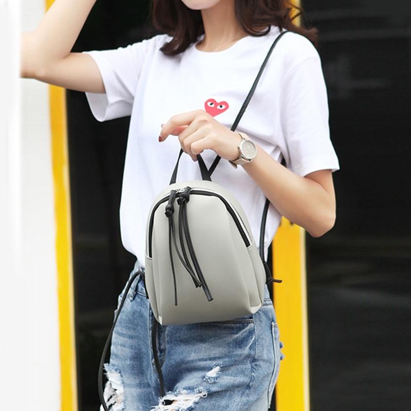 Новый Модный женский рюкзак из искусственной кожи, высококачественный Женский дорожный мини-рюкзак, маленькая сумка на плечо, рюкзаки для девочек, 2019