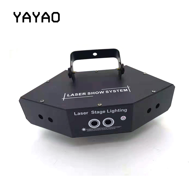 YA Yao Sector Six-eye Laser Lamp Light AC110-240V 50=60HZ Perfect Effect Stage Light For DJ Disco Party Clubs Lighting RGB Light