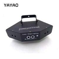 YA Yao Sector Six eye Laser Lamp Light AC110 240V 50=60HZ Perfect Effect Stage Light For DJ Disco Party Clubs Lighting RGB Light
