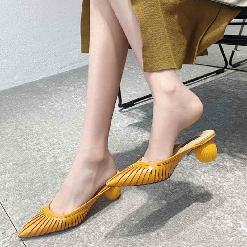 Kemekiss Vrouwen Sandalen Schoenen Zomer Puntschoen Solid Schoenen Vrouwen Strange Hakken Slippers Mode Band Teen Schoenen Maat 33-40