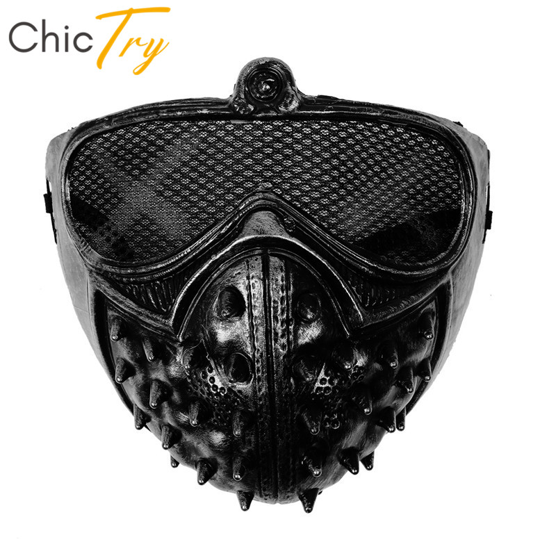 ChicTry Cool Steampunk PVC Plastic Rivet Half Face Masks Props Masquerade Anime Cosplay Rave Party Halloween Costume Accessories