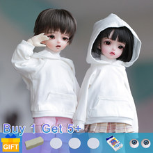 Emica & emilia boneca bjd 1/6 yosd bonecas móveis conjunto fullset completo profissional maquiagem moda brinquedos para meninas presentes