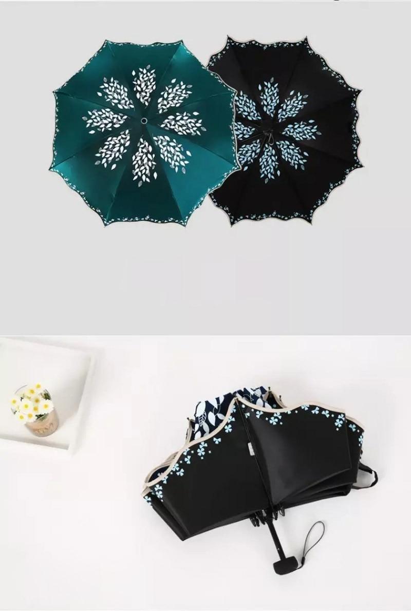 Beautiful Loving Constellation fashion print cute Windproof automatic tri-fold umbrella sun UV protection Sun umbrella