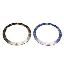 38 мм Безель для наручных часов керамические часы лицевой внутренний диаметр 30,7 мм Мужские часы запасные части Аксессуары круглые весы ободок
