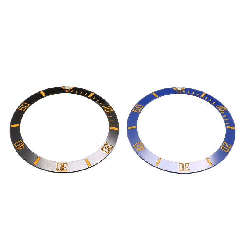 38mm Watch Bezel Ceramic Watch Face Inner Diameter 30.7mm Men's Watches Watch Replacement Parts Accessories Round Scale Bezel