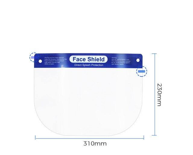 Adult Transparent Face Shield Anti-Saliva Protective Visor Face Mask Head-Mounted Protection Full Face Masque Masks 3