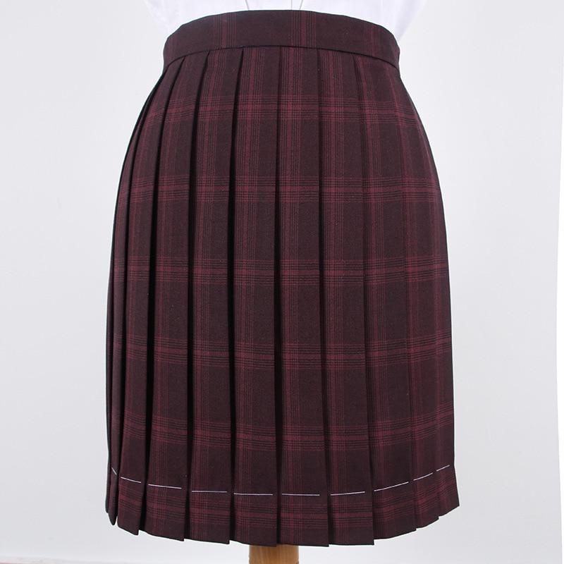 JK Uniform Pleated Skirt High-waisted Purple Skirt With Pocket Positioning Line