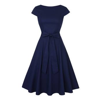 Cap Sleeves Knot Belted Holiday Dress surplice gingham belted dress