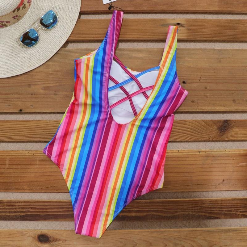 Hot DealsRiseado One-Piece Swimsuit Competition U-Back Sport Women for Bandage