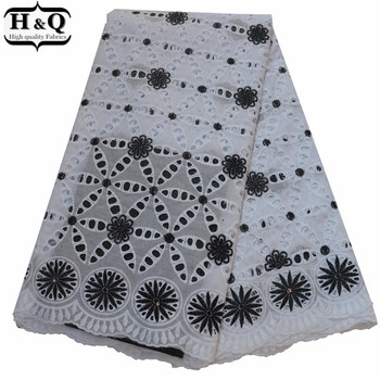 2019 Nigerian Lace Fabric Swiss Voile Lace In Switzerland African Dry Lace Fabric Punched Embroidered Lace For Hollow Out Dress