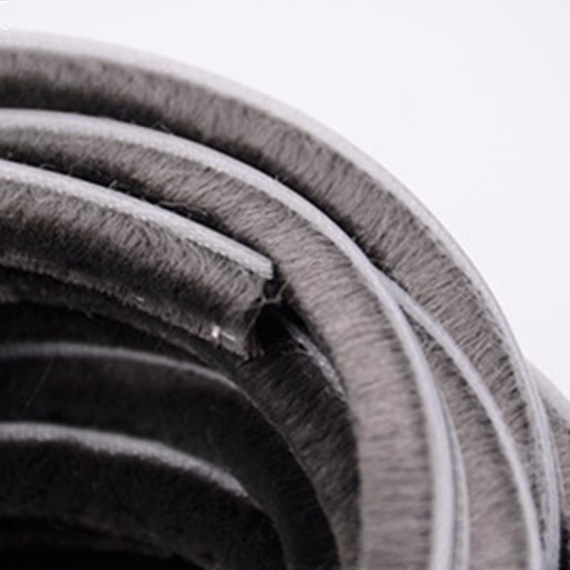 5-7mm 10M/lot Silicification Waterproof Sealing Strip Door/Window Groove Nylon Pile Brush Seal Weatherstrip Dust Proof Strip
