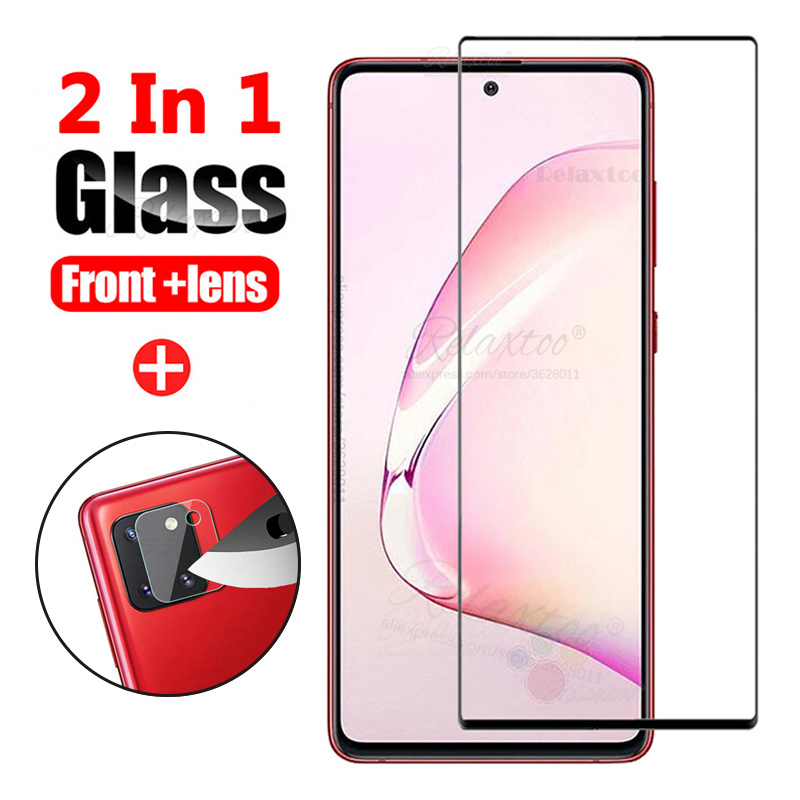 2 in1 Protective Tempered Glass For Samsung Galaxy Note10 s10 lite Camera Lens Screen Protector film for Samsung note 10 lite 9h