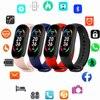2021 New M6 Smart Watch Men Women Fitness Sports Smart Band Fitpro Version Bluetooth Music Heart Rate  Smartwatch For Gift