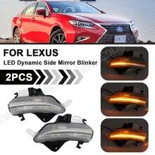 2Pcs LED Dynamische Seite Spiegel Blinker Indicator Blinker Licht Für Lexus IS350 IS250 IS300 CT200H LS460 LS460L LS600H IS200T