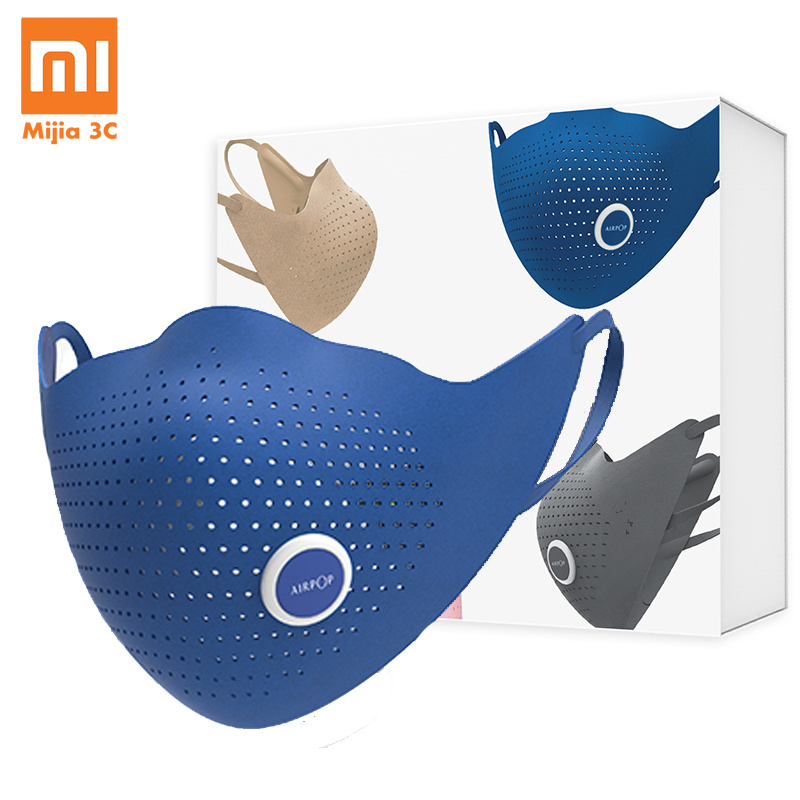 Original Xiaomi AirPOP Mask Air Wear PM0.3 Anti-haze Face Mask With 4pcs Filter Adjustable Ear Hanging Comfortable Face Masks