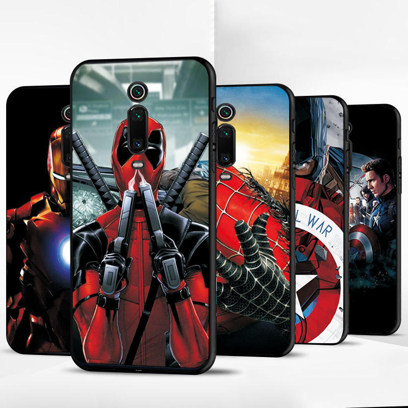 Cases For Xiaomi Mi 9T Case Hero Marvel Soft TPU Black Cover For Xiaomi Mi9t Pro MI9T MI8 MI8SE MI9 MI9SE Phone Case Shells