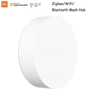 Image 1 - Xiaomi Mijia 멀티 모드 스마트 게이트웨이 3 지그비 3.0 WIFI 블루투스 메쉬 스마트 장치와 음성 원격 제어 자동화 작업