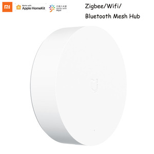 Xiaomi Mijia Multi-Mode Smart Gateway Voice Remote Control Automation work with ZigBee 3.0 WIFI Bluetooth Mesh Smart Devices(China)