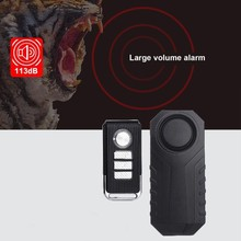 цена на Waterproof Bike Motorcycle Electric Bicycle Security Anti Lost Wireless Remote Control Vibration Detector Alarm