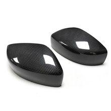 Add-on real fibra de carbono espelho retrovisor capa caps apto para infiniti g25 g37 2009-2014