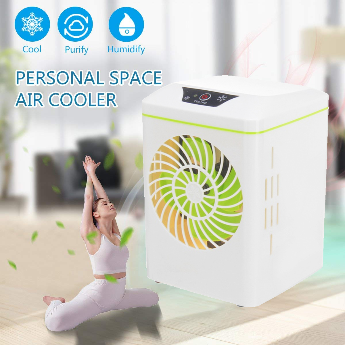 Air Circulator Cooler Air Conditioner Air Conditioner Fan Portable Quiet USB Smart Home Purifier Personal Office