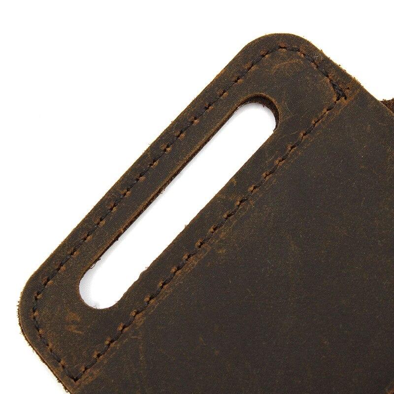 PU Leather Multitool Holder Essential Organizer Belt Pouch Pen Storage Bag Outdoor TY53