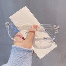 Anti azul luz ray terminou armação de óculos de miopia para mulher homem óculos de computador diopter-1.0-1.5-2.0-2.5-3.0-3.5-4.0-5.0-6.0