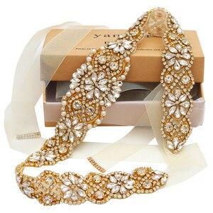 Image 3 - MissRDress, Свадебный ремень, ремень ручной работы из искусственного жемчуга, женское вечернее платье, Свадебный ремень с жемчугом JK834