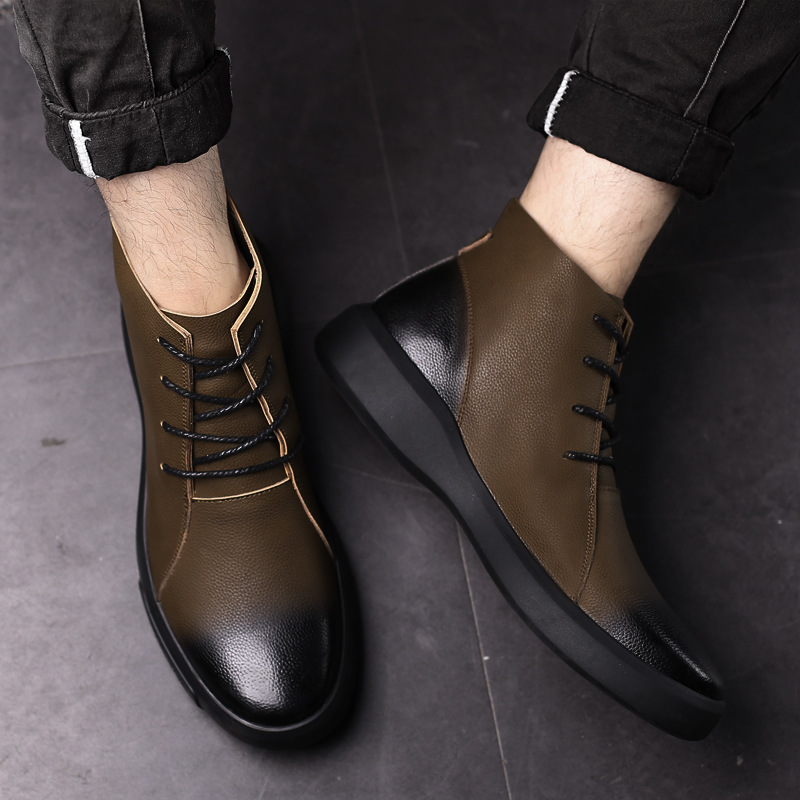 Women Patent Leather Flat Round Toe Chelsea Shoes Ankle Riding Boot Fashion A374