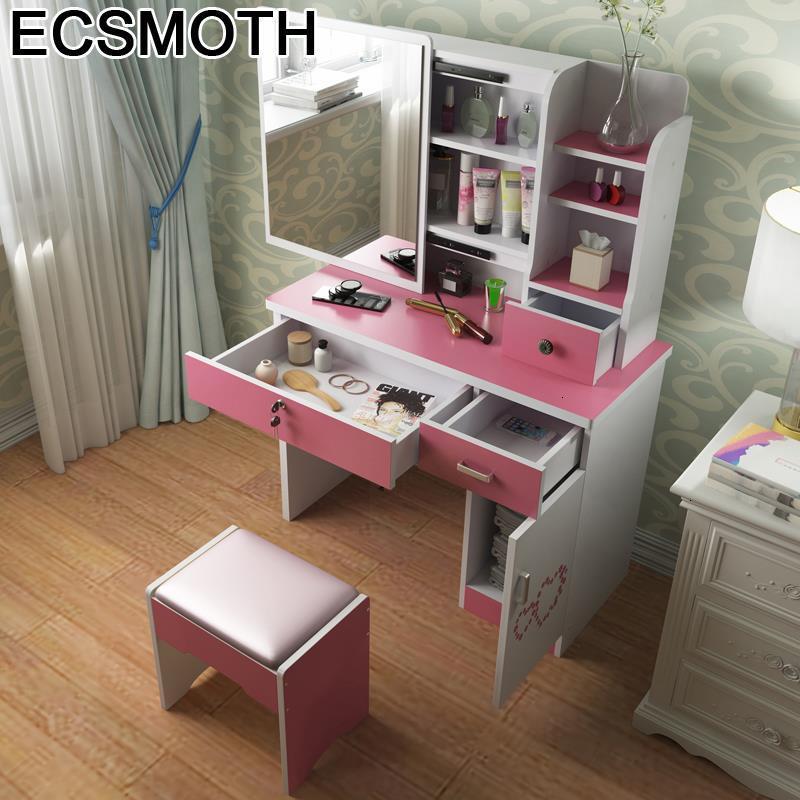 Dormitorio Drawer Comoda Para Makeup Box Vanity Coiffeuse Avec Miroir Aparador Table Quarto Korean Bedroom Furniture Dresser