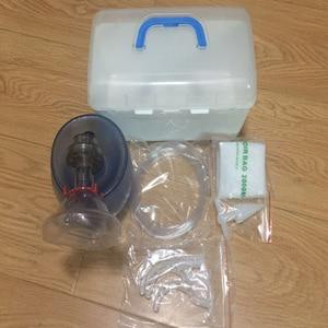Простой автоматический силиконовый респиратор/ПВХ ручной дыхательный мешок, больничная маска для экстренного дыхания
