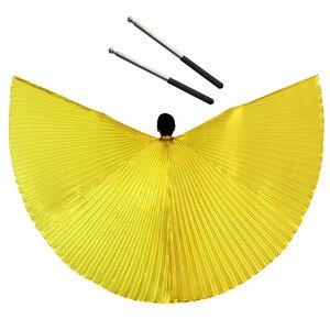 Image 5 - Танец живота крылья Исиды со свободными телескопическими палками для взрослых женщин аксессуар Болливуд восточные египетские крылья индийский костюм