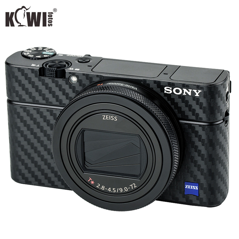 KIWIFOTOS Camera Body Cover Carbon Fiber Film Kit For Sony RX100 VII RX100VII RX100M7 Cameras Skin Guard Anti-Scratch 3M Sticker