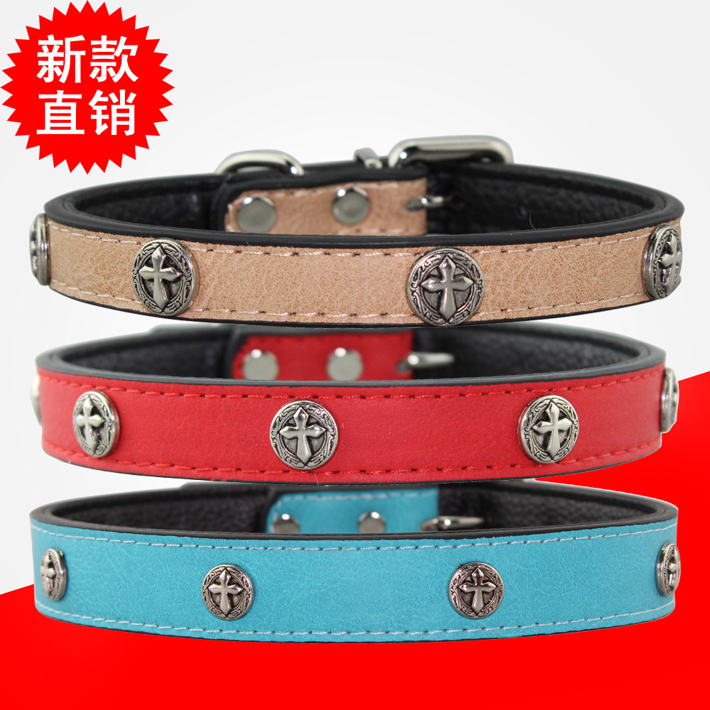 New Style Classic Shield Cross Pet Collar Dog Traction Rope Traction Pet Supplies