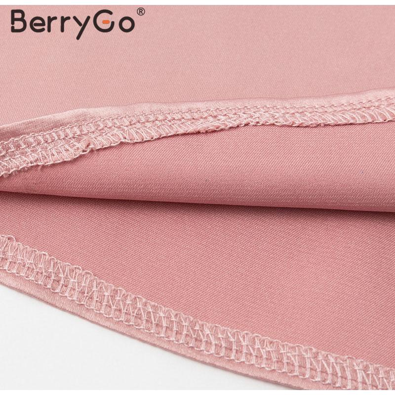 Hd9245914d92e482baea7514a6722b75cV - BerryGo Office ladies tie-neck women blouse shirt Summer spring long sleeve blouses Elegant bow work wear female top pink blusas
