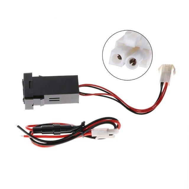 12V 2.1A podwójny Port USB 2 ładowarka samochodowa gniazdo zapalniczki dla Toyota Corolla