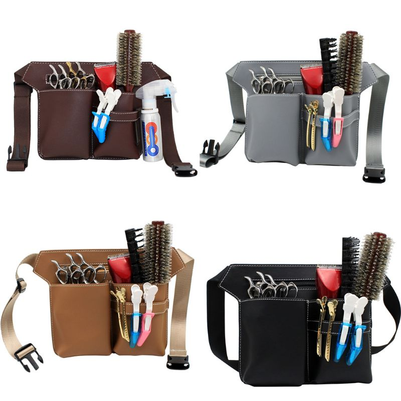 Professional Barber Scissors Bag Waist Pack Pouch Hairdressing Hair Salon Tool