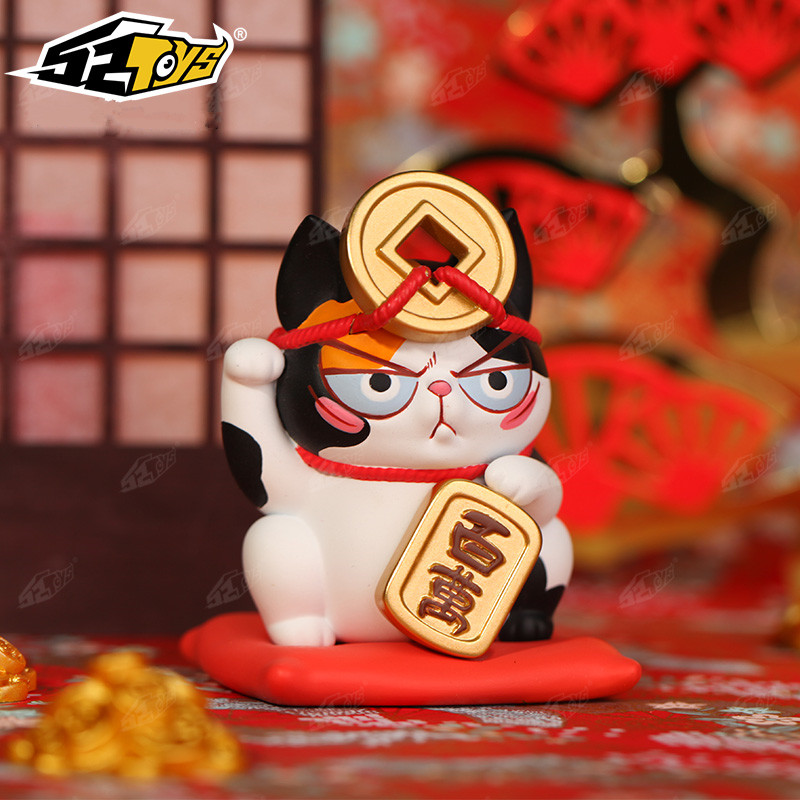 Blind Box Instant Noodles On The Cat's Head With A Third Bomb Fortune And Treasure Series Cute Doll Gift Authentic