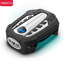 YANTU Portable Air Compressor Pump DC 12V Tire Inflator Atuo Car Air Pump with Digital Display and LED Light for Car Bike AM03 for volvo car 7h15 air conditioner compressor pump with pulley 11104419 11412632 15082742